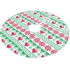 Nordic Ugly Sweater Pattern Holiday Tree Skirt