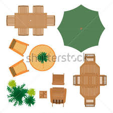 Outdoor Furniture For Landscape Design Stock Vector