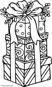Free Printable Christmas Gifts Coloring Pages For KidsFree Online Activities