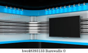 Tv Studio Red Backdrop For TV Shows On Wall News