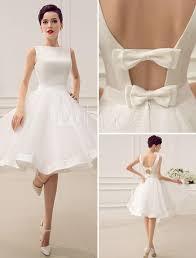 vintage 1950 u0027s short wedding dresses knee length bateau neckline