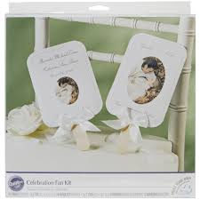 Michaels Wedding Car Decorations by Amazon Com Wilton Print Your Own Fan Kit Kitchen U0026 Dining