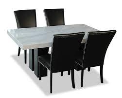 100 Desjardins Elegance Cami 5Piece Dining Set Black