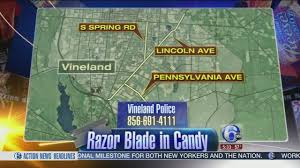 Halloween Candy Tampering by Razor Blade Discovered In Halloween Candy In Vineland New Jersey