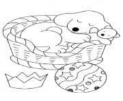The Pup Taking A Nap Puppy Coloring Pages