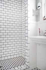 black and white shower tile ideas and pictures