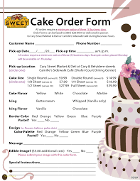 Best Cake Order Forms Contemporary Professional Resume Templates