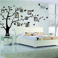 Large Family Tree Wall Decal Peel Stick Vinyl Sheet Easy To Install Apply History Decor Mural For Home Bedroom Stencil Decoration
