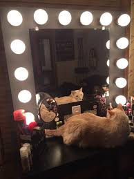 Makeup Desk With Lights by Vanity Desk With Mirror And Lights Image Of White Vanity Set