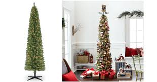 HOT 7 Ft Pre Lit Green Pencil Artificial Christmas Tree ONLY 3999 Shipped