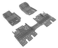 Jeep Commander Floor Mats Oem by Mopar 82213860 Floor Slush Mats With Tire Tread Pattern For 14 17