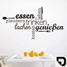 designscape wandtattoo essen trinken genießen wandtattoo küche esszimmer 100 x 54 cm breite x höhe schwarz dw803463 m f4