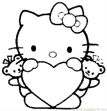 Full Image For Free Printable Hawaiian Flowers Coloring Pages Print Hello Kitty