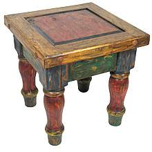 Painted Wood Mexican Table Rustic Furniture
