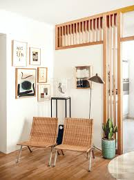 Wooden Room Divider In A Bright Contemporary Home