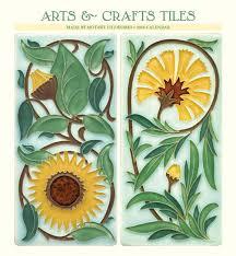 arts and crafts tiles calendar 2018 calendar club uk