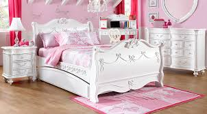 Disney Princess White 5 Pc Twin Sleigh Bedroom Girls Bedroom