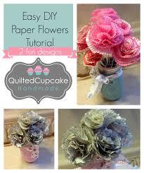 Easy Paper Flowers Diy Flower Craft Tutorial