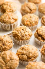 Healthy Carrot Cake Mini Muffins only 33 calories & just like eating dessert for