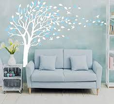 sayala baum wandtattoo blumen baum vögeln wandaufkleber deko für wohnzimmer schlafzimmer kinderzimmer babyzimmer entfernbare wandtattoo
