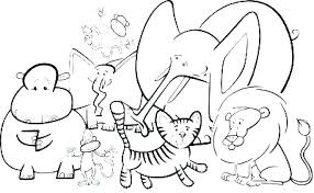 Wild Animals Coloring Pages For Kids Printable Animal