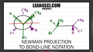 Chair Conformation Of Cyclohexane 3d by Newman Projection To Bond Line Notation Trick Leah4sci Youtube