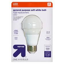 light bulb led general purpose soft white 40 watt up up target