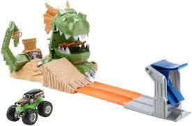 100 Hot Wheels Monster Truck Track HOT WHEELS Jam Dragon Blast Challenge Play Set Shop