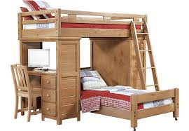 Creekside Taffy Twin Twin Student Loft Bed w Desk with Chest