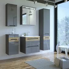 badezimmer möbel komplett set keramik waschtisch led
