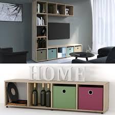 vicco raumteiler 4 fächer eiche sonoma 144 x 36 cm standregal hängeregal regal tv lowboard sideboard