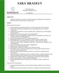 Resume Examples Veterinary Assistant Resumeexamples