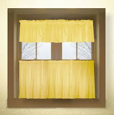 Yellow And Gray Kitchen Curtains by Solid Colored Tier Kitchen Cafe Curtains In 66 Colors Dropship Or