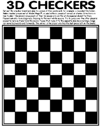 Create Your Own Game Of Checkers With This Free Activity Page