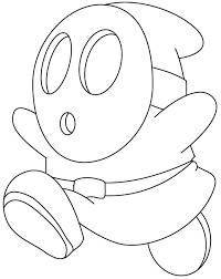 Mario Characters Coloring Pages Kart 7
