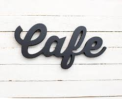 Cafe Sign Signs Kitchen Wall Art