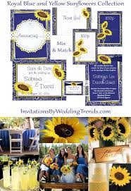 Royal Blue And Sunflower Yellow Wedding 2