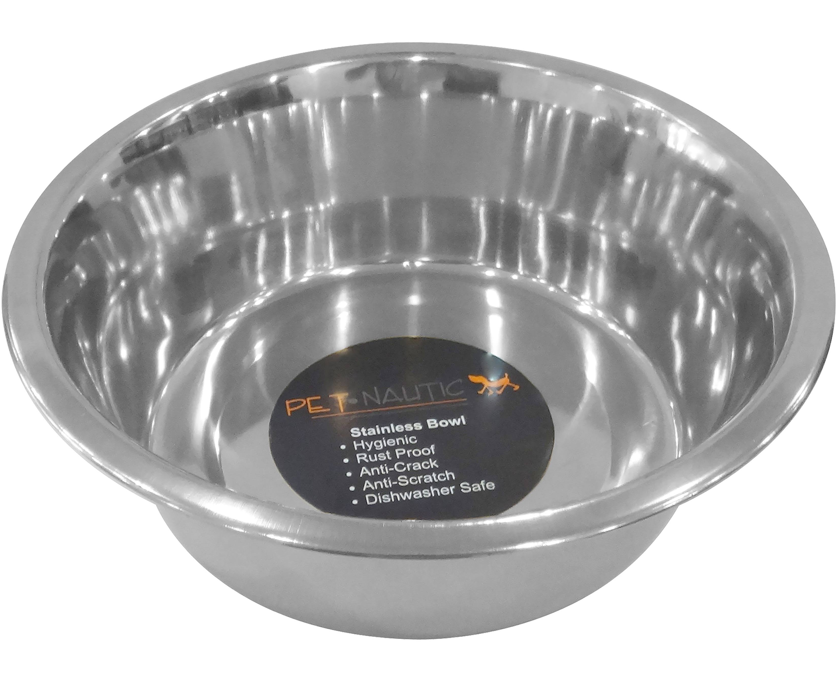Pet Nautic Standard Feeding Dog Bowl 2.5Qt-Stainless Steel DB335
