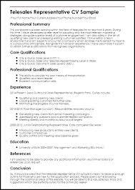 Telemarketer Resume Telesales Sample Sales Experienced Job
