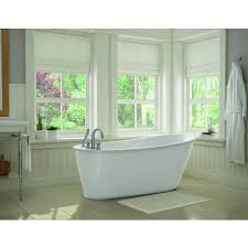 maax bath white sax freestanding soaker tub 105797 000 002 100