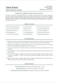 Marketing Manager Resume Example Format For Pdf