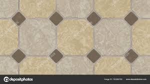 Beige Brown Seamless Classic Floor Tile Texture Simple Kitchen Toilet Or Bathroom Mosaic Tiles Background 3D Rendering Illustration