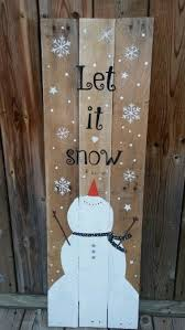25 DIY Snowman Craft Ideas And Tutorials For Kids Painted Pallet