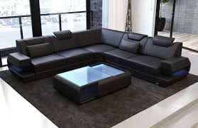 100 Modern Couches Design Sectional Sofa San Antonio L Shape With LED Lights