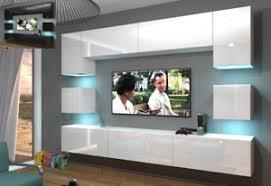 details zu moderne wohnwand schrankwand hochglanz wohnzimmer next 1 inkl led