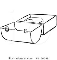Lunch Box Clipart 1136098 Black And White