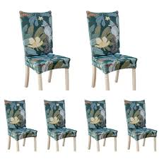 BuyBowie 6 Pcs Removable Washable Dining Room Chair Covers With Printed  Pattern,Soft Spandex Super Fit Stretch Chair Slipcovers For ... Us 429 30 Offding Room Kitchen Office Spandex Stretch Chair Cover Floral Geometric Pattern Elastic Seat Case Protector Coversin New Arrival Kitchen Chair Covers Housse Chaise Stretch Polyester Spandex Drop Shipping Ding Cover Big Covers White Folding 869 Lycra Wedding Event Banquet Anniversary Party Decoration Black Red 12 Colorsin From Home Sealavender 146pcs Removable Washable Ding With Printed Patternsoft Super Fit Slipcovers For Polyester Fabric Gray Credibltoriesinfo 6 Pack Fox Pile Hotel Restaurant Details About Jacquard Stool Chairs Of 68 Colors Decor Pink