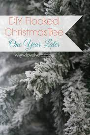 Flocking Artificial Christmas Trees by Diy Flocked Christmas Tree One Year Later Lovely Etc