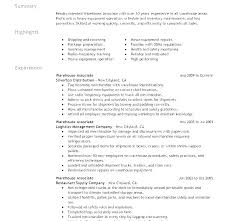 Warehouse Lead Resume For Sample Jobs