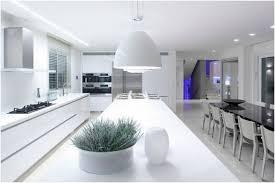 cuisine blanche design photo cuisine blanche design moderne avec ilot